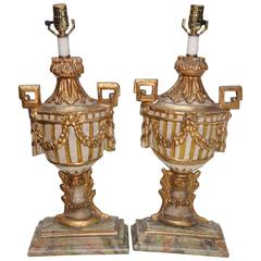 Pair of 18th Century Italian Gilded Garniture