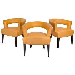 Set of Three Dakota Jackson Ringback Chairs