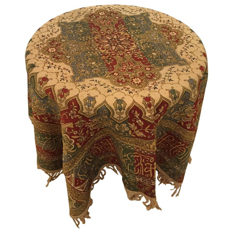 Granada Ic Spain Textile With Arabic Calligraphy Writing For