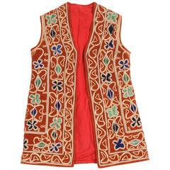Bright Hippie Chic Turkish Red Vest