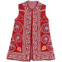 Turkish Red Ceremonial Folk Traditional Vest