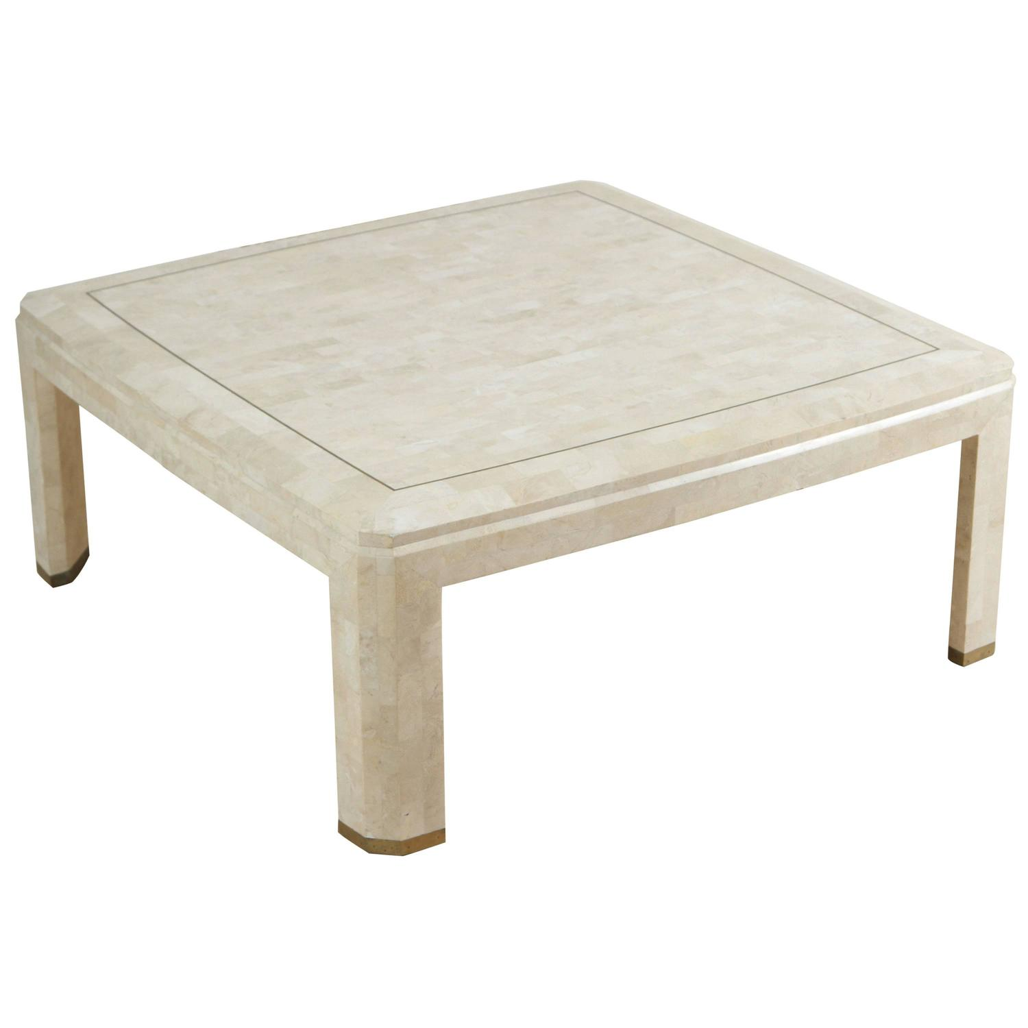 Maitland-Smith Mosaic Square Ivory Coffee Table - Maitland Smith Tables - 139 For Sale At 1stdibs