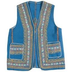 Authentic Ottoman Turkish Blue Vest