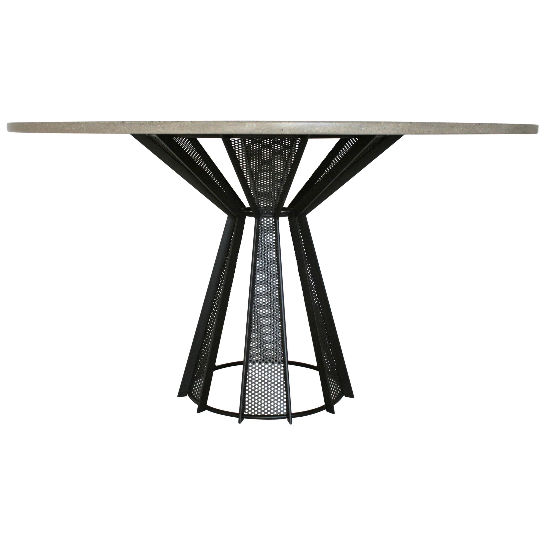 "James de Wulf Concrete Harvest Dining Table, 60"""