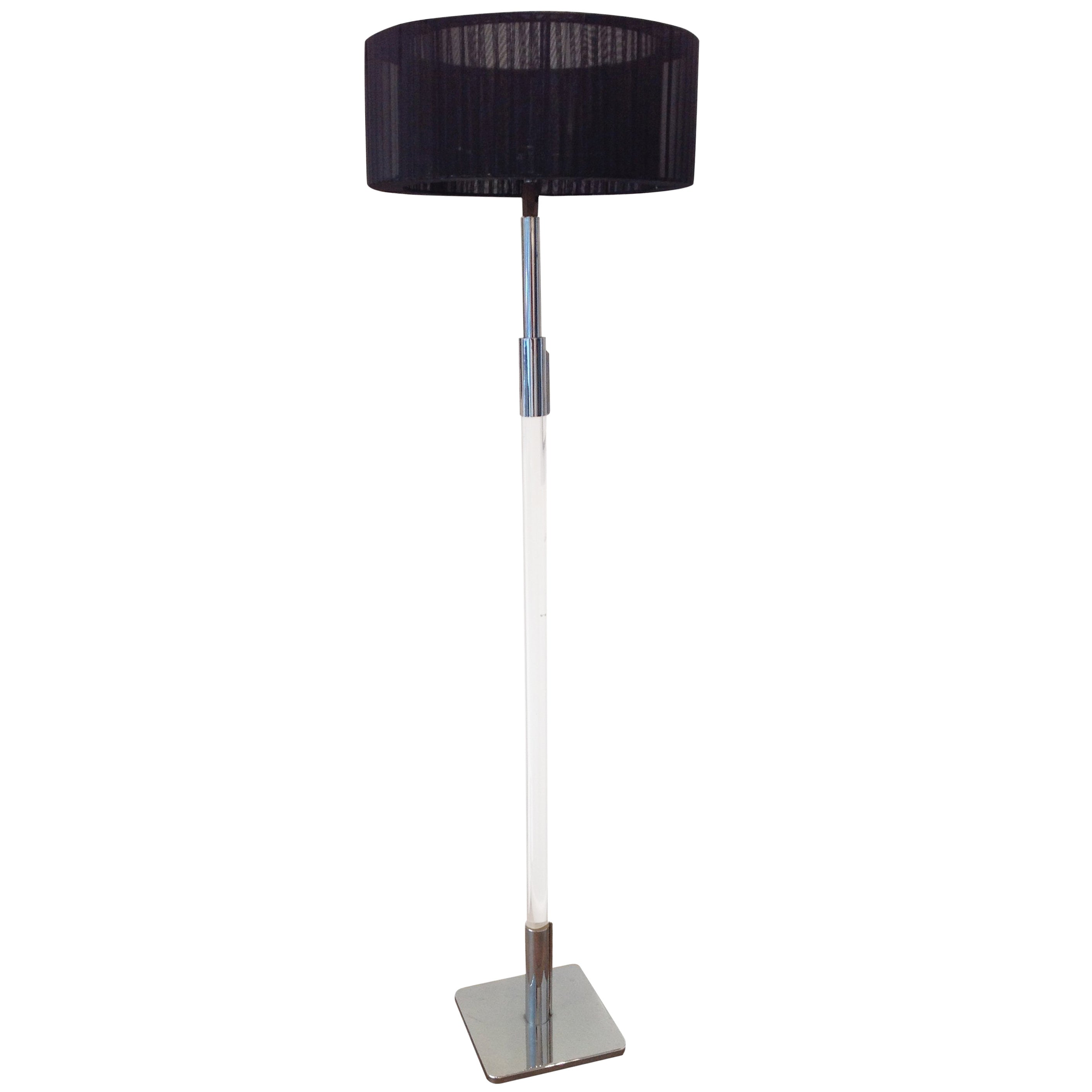 Chrome and Lucite Floor Lamp