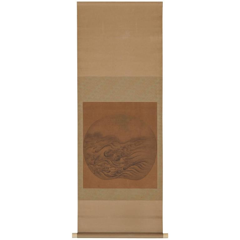 Antique Japanese Scroll: Vintage Japanese Erotic Shunga Scroll, Early 20th Century