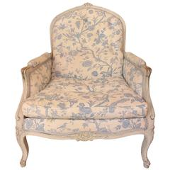 Large Lacquered Frame LXV Style Bergere Chair 19th Century