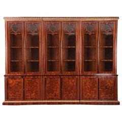 20th Century Biedermeier Style Library Cupboard Bookcase
