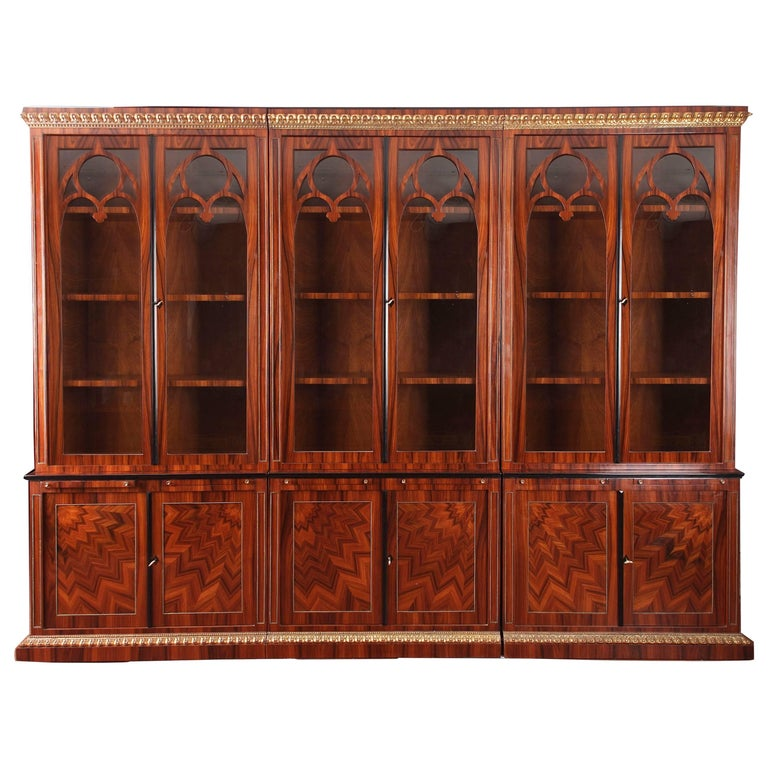 20th Century Biedermeier Style Library Cupboard Bookcase For Sale
