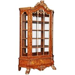 20th Century Baroque Style Dutch Vitrine Cupboard