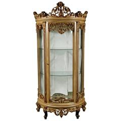 20th Century French Curved-Feet Vitrine