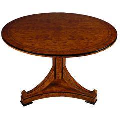 20th Century Biedermeier Style Round Drop-Leaf Table