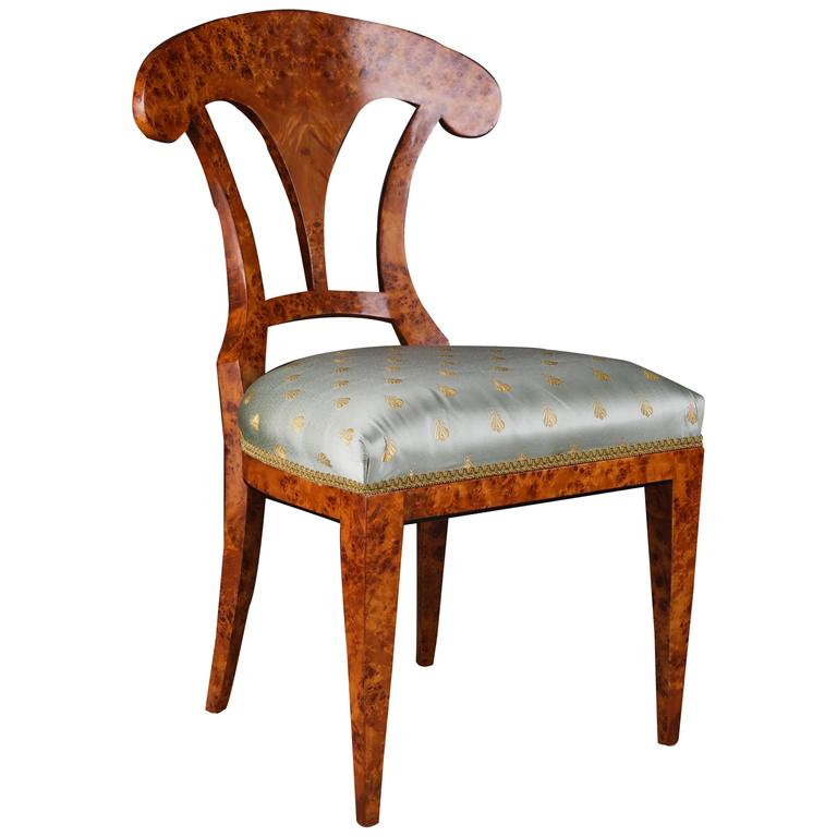 20th Century Vienna Biedermeier Beech Chair after Josef Danhauser