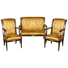 20th Century Empire Style French Garniture Living Room Sets