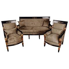 20th Century French Empire Salon Garniture Living Room Set