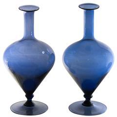 Pair of Bottles, Bluino, Pauly, 1960, Zecchin Attribution