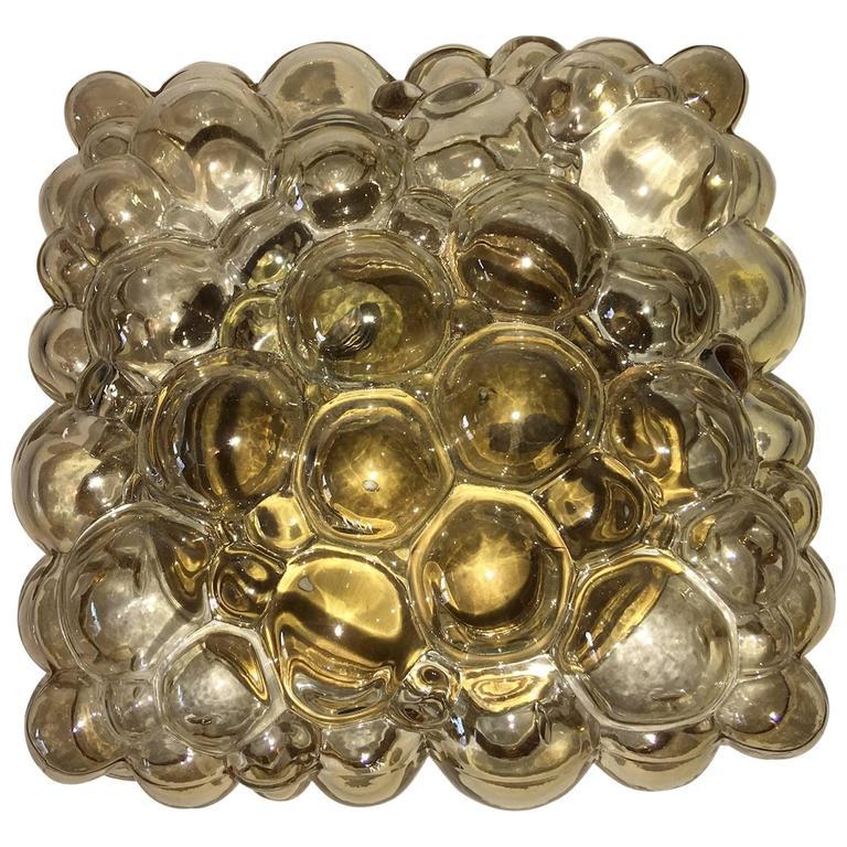 Mid-Century 1960s Limburg Bubble Glass Flush Mount Lamp Helena Tynell
