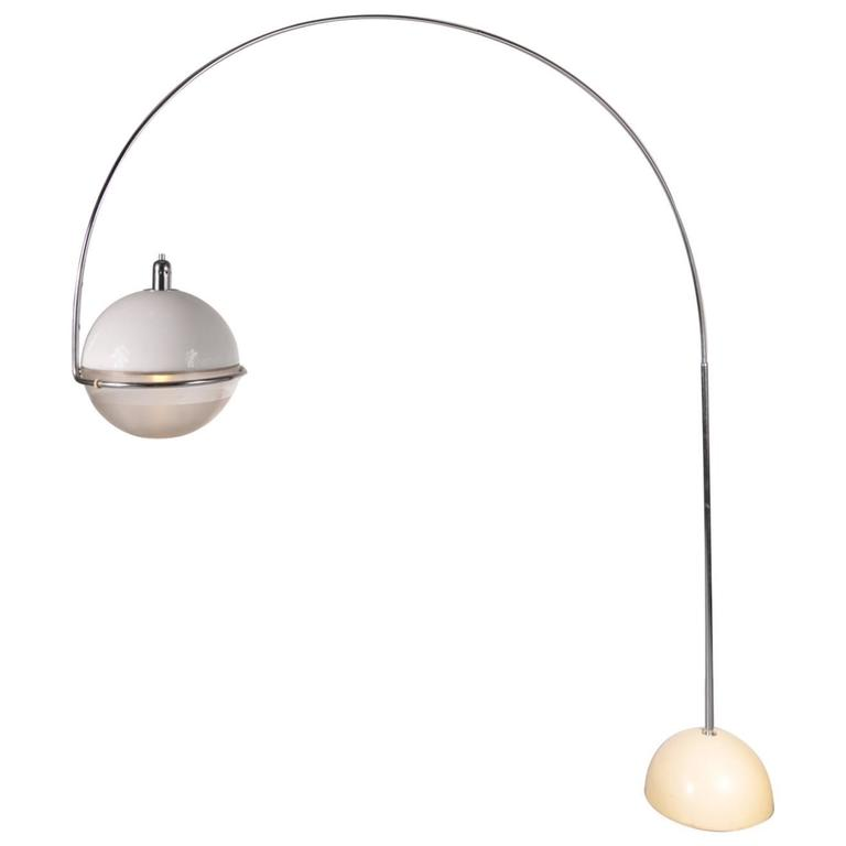 """Focus"" Arc Lamp by Fabio Lenci for Guzzini, Italy, circa 1960"