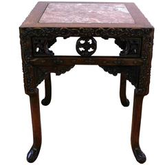 Chinese Hong-Mu 'Blackwood' Square Pedestal Table, circa 1880