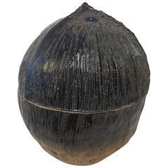 Large Coconut Porcelain Bowl with Lid by Maria Lenskjold
