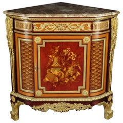 20th Century Louis XV Style Corner Commode After Jean Henri Riesener