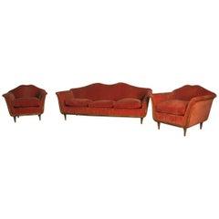Elegant Living Room Set, Italian Mid-Century Design Guglielmo Ulrich Att.