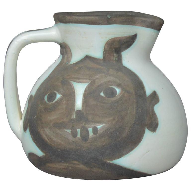 Pablo Picasso Madoura Ceramic Pitcher Heads, 1956
