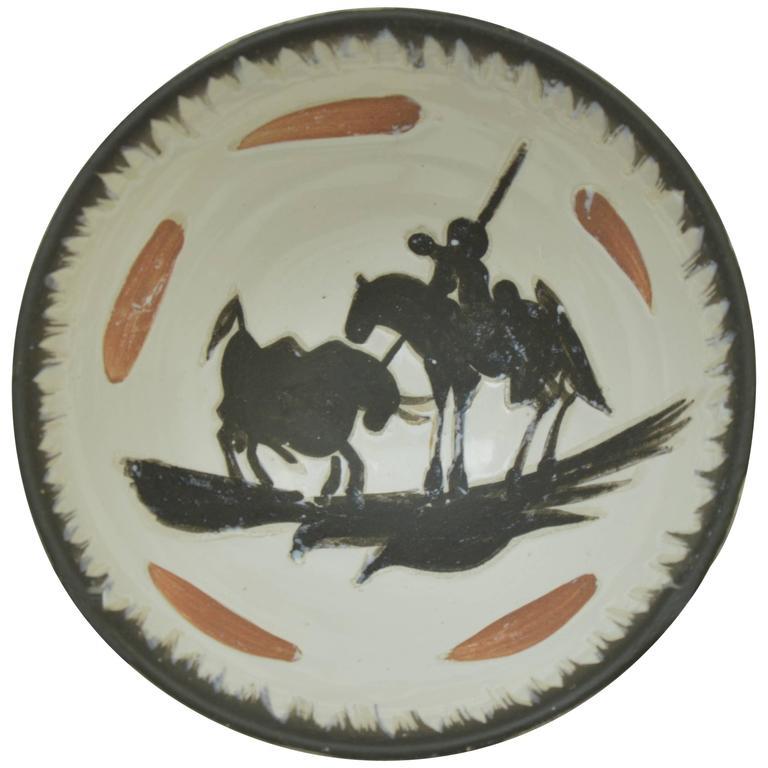Pablo Picasso Madoura Ceramic Bowl Picador, 1955
