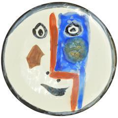 Pablo Picasso Madoura Ceramic Plate Face No.193, circa 1963