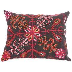 Antique Pillow Made Out of a Kyrgyz Embroidery