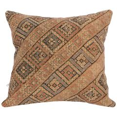 Antique Pillow Made Out of a Persian Silk Embroidery