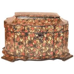 19th Century Painted Tea Caddy