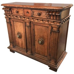 18th Century Italian Walnut Two-Door Cupboard