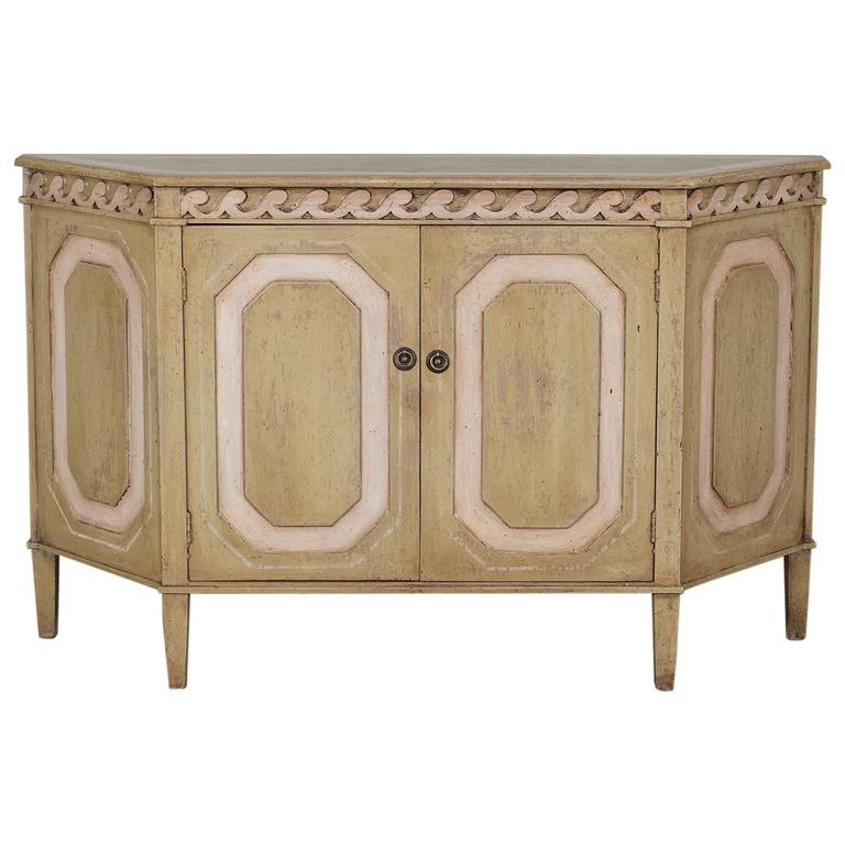 Vintage French Louis XVI Neoclassical Style Painted Buffet