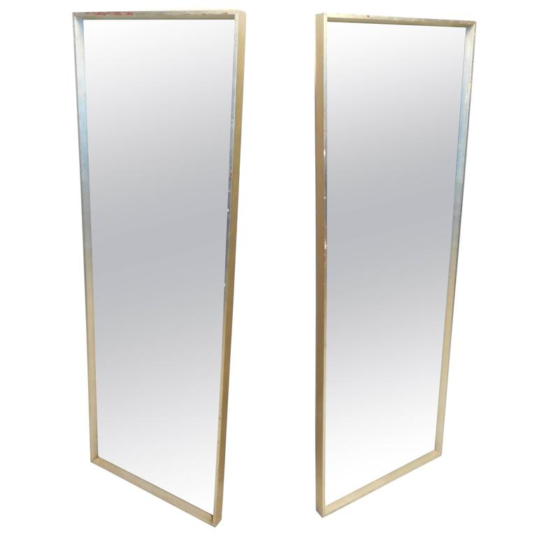 Pair of tall mid century modern mirrors for sale at 1stdibs for Tall mirrors for sale