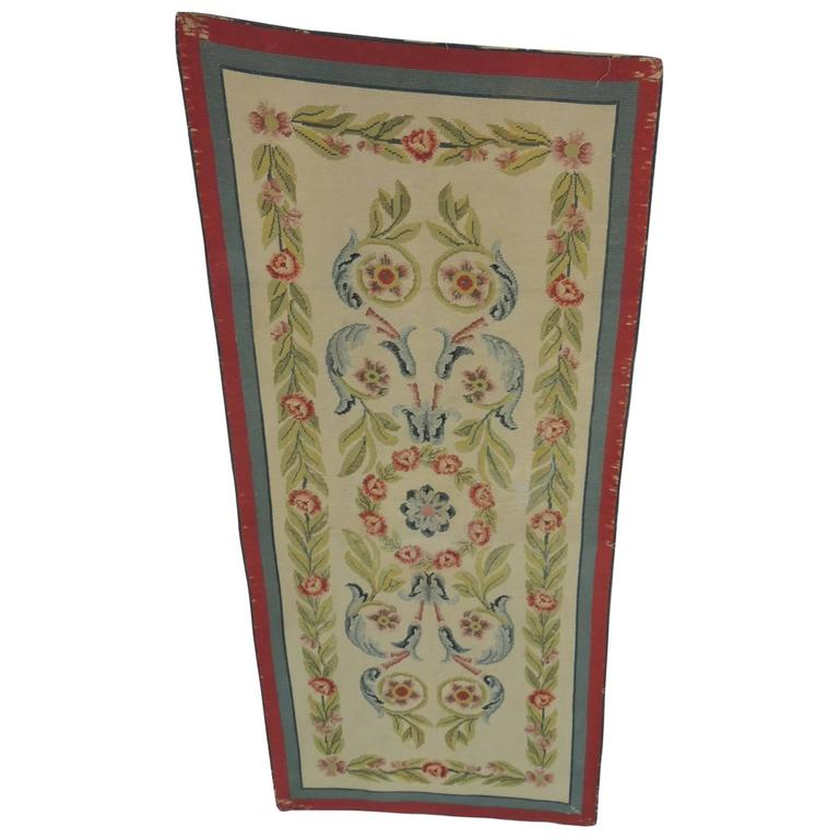 CLOSE OUT SALE: 19th Century French Needlepoint Floral Tapestry Panel