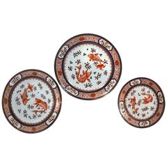 46 Pc. Set 19th Century French Chinoiserie Porcelain Plates, Rouard, Paris