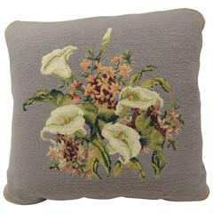 CLOSE OUT SALE: Vintage Purple Floral Tapestry Decorative Pillow