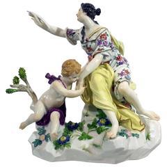 19th Century Meissen Porcelain Group