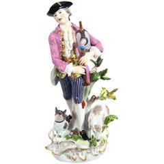 Meissen Porcelain Group of Shepherd with Bagpipe, 19th Century