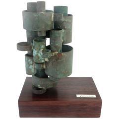 Copper Sculpture by California Artist Josef Hoffman