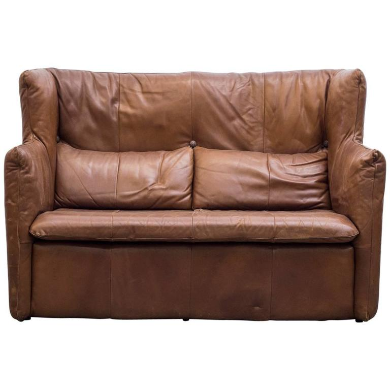 Gerard van den Berg Leather Loveseat