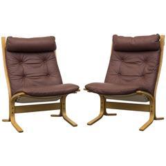 """Pair of """"Siesta"""" Easy Chairs for Westnofa"""