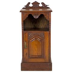 Antique Scottish Victorian Walnut Nightstand, Bedside Table, Lamp Table, E
