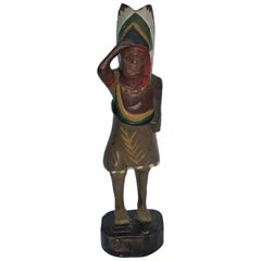 19th Century Original Painted Miniature Indian TOTEM Pole