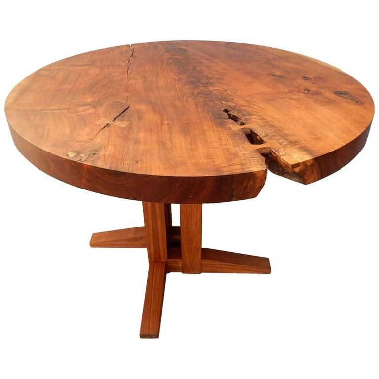 Nick Offerman walnut slab table, 2006