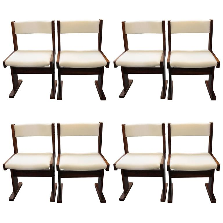 Eight Rosewood Danish Chairs By Gangso Mobler 1
