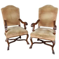 Pair of 19th Century Goat Feet Chairs