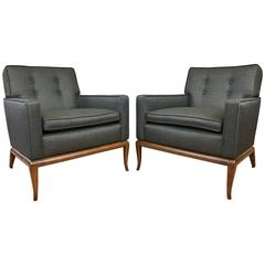 Rare T.H. Robsjohn-Gibbings for Widdicomb Pair of Lounge Chairs