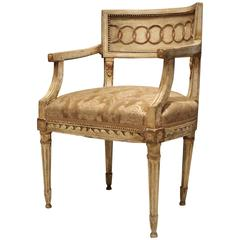 18th Century Neoclassic Fauteuil or Armchair
